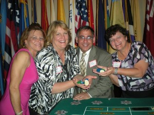 Wendy,Kelly and Evelyn winning at the table!